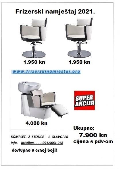 frizerski paket komplet stolice i glavoper frizerski namještaj